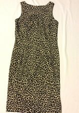 Apart Impressions Women's Size 12 Brown Sleeveless Leopard Print Sheath Dress