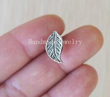 2pcs Handmade Leaf cartilage barbell Upper Ear Ring piercing Cartilage jewelry