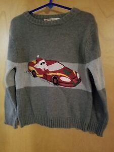 Rad Truck Gray Santa Claus Sweater Size 5