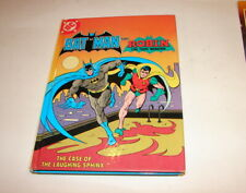 DC Batman and Robin Case of the lauging Sphinx book cassette  80's