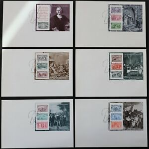 U.S. Used #2624 - 2629 1c - $5 Columbus Voyages Set of 6 First Day Covers