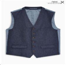 NEXT Mens Waistcoat Formal Business Suit Vest Slim Wedding Casual Coat Tops NEW!