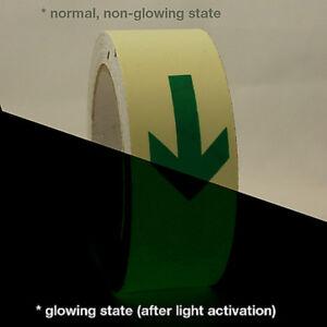 Nastro adesivo fosforescente fotoluminescente con frecce che si illumina al buio