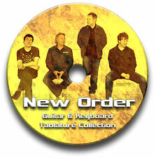 NEW ORDER INDIE ALTERNATIVE ROCK GUITAR & KEYBOARD TABS TABLATURE SOFTWARE CD