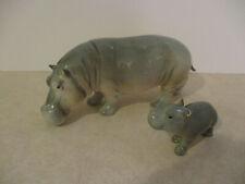 Goebel West Germany Mother & Baby Hippo Hippopotamus Figurines