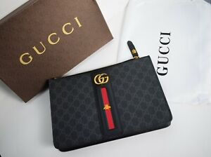 Gucci Men Bag Envelope Clutch Black