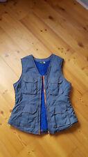 Teddy Weste Gr S Steingrau Anthrazit Orange  Blau Rave Boho Vintage neu