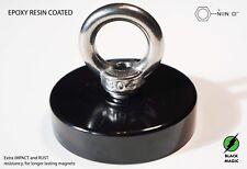 Black Magic Super Strong Magnet Fishing Neodymium Magnet 200kg black epoxy resin