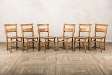 More details for edwardian chapel chairs vintage church chairs with bible holder 1920s