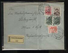 ÖSTERREICH - AUSTRIA 1938 Reko Brief Deutsch Brodersdorf mit Buntfrankatur