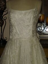 New Jessica McClintock Ivory Wedding Gown Lace Country wedding  Low Price 12