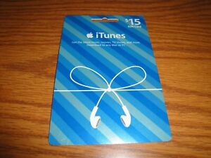 no value $0 Blue Apple iTunes Music Card Giftcard collectible christmas 15 editi