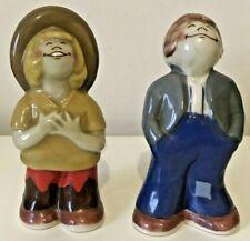 More details for vintage ceramic wade bisto kids salt & pepper pots cruet original 1970s