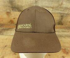 Bacardi Rock Coconut Hat Cap Rum Liquor Brown Mesh Flexible Fit One Size