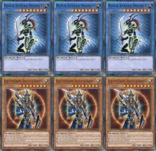 3x Black Luster Soldier +3x Soldier Envoy of the Beginning YGLD-ENA01 1st YUGIOH
