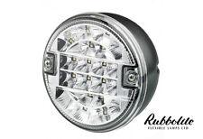 1 X 12/24V VOLT LED REAR ROUND HAMBURGER REVERSE LAMP LIGHT LORRY/TRUCK/TRAILER