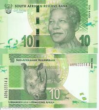 SOUTH AFRICA 10 Rand Banknote World Currency Money BILL Africa p133 Note Mandela