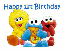 Baby Sesame Street edible party cake topper cake image party decoration