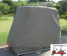 4 Passenger Golf Cart Cover, Fit EZ Go,Club Car,Yamaha Cart  Taupe Storage Cover