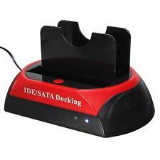 """Lecteur de carte bi-station d'accueil 2.5""""3.5"""" SATA HDD IDE Hard Disk Drive ##"""