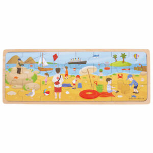 Bigjigs Toys Wooden At The Seaside Tray Jigsaw Puzzle Educational Story Telling