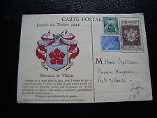 FRANCE - carte 1er jour 9/12/1944 (journee du timbre) (cy54) french (U)
