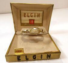 VINTAGE ELGIN 19 JEWEL DURAPOWER LADIES WRISTS WATCH 10K GOLD FILLED ORIG CASE