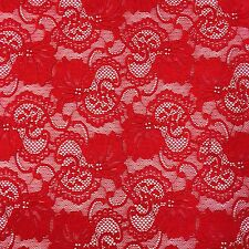 "Stretch Lace Fabric Floral Embroidery Poly Spandex 58"" Wide BTY Apparel Victoria"