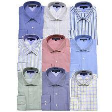 Tommy Hilfiger Camisa de vestir para hombre de manga larga Regular Fit Button hasta Profesional