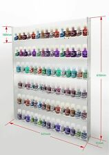 1 High Gloss Acrylic Wall Mounted 6 x 15 Nail Polish Display Rack    ANPR23A-090