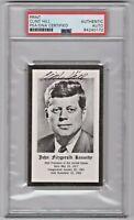 President John F Kennedy PSA/DNA JFK Funeral Prayer Card Auto Signed Clint Hill