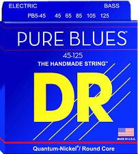 DR PB5-45 PURE BLUES QUANTUM-NICKEL BASS STRINGS, MEDIUM GAUGE 5s - 45-125