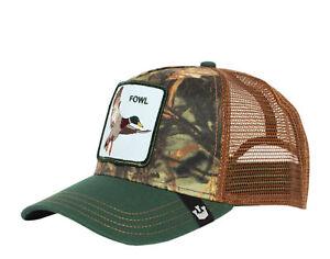 Goorin Bros Duck Duck Fowl Green Camo/Brown Men's Trucker Hat 101-0469-GRE One
