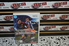 PES 2009 Pro Evolution Soccer WII **Works on WII U New Sealed