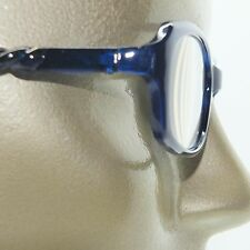 Reading Glasses Edgy Twisted Rope Side Chunky Blue Frame Readers +2.50 strength
