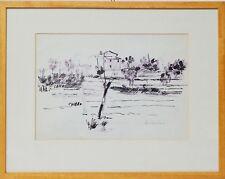 Zeichnung Nini Consolaro Italien San Peretto 1976 Sammlung Karl Schott 47x37 cm