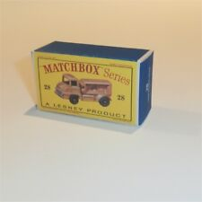 Matchbox Lesney 28 b Compressor Truck 28 empty Repro D style Box