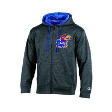 NCAA kansas Jayhawks Adult Men Full Zip Hoodie XXL gray *NWT*