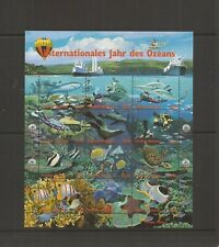 UNITED NATION ( VIENNA ) 1998 YEAR OF THE OCEAN SHEETLET MNH SET O0F STAMPS