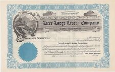 DEER LODGE LIVERY COMPANY (MONTANA).....EARLY 1900'S UNISSUED STOCK CERTIFICATE