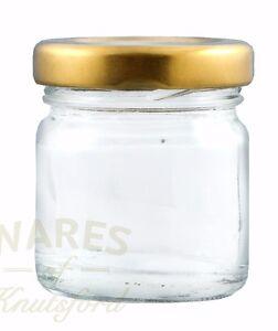 Mini jam jar, 41ml, FSA approved, glass mini jam jar & lids, 3 lid colours