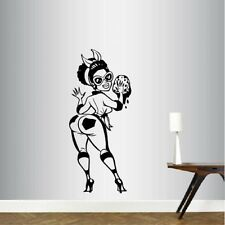 Vinyl Decal Sexy Maid Housekeeper Cleaning Lady Woman Wall Art Sticker 1780