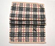 Burberry Hand Towel Gym Designer Nova Check Print Beige Vintage Used Cond