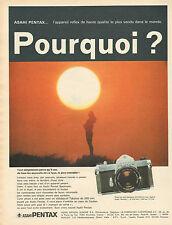 Publicité 1970  ASAHI PENTAX ... l'appareil photo reflex de haute qualité