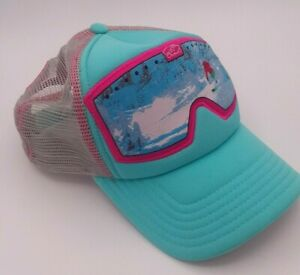 bigtruck Big Truck Goggle Hat Cap Mesh Snapback Snow Ski Pink Blue Sublimated