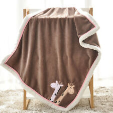 2020 blanket newborn double thick flannel Breathable and warm wrapped blanket