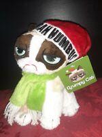 "Christmas Holiday Grumpy Cat 8"" Plush Stuffed Animal BAHHUMBUG Scrooge NWT"