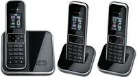 T-SINUS 405 Trio Schwarz Schnurlos Telefon m. 3 Mobilteilen Schnurloses Handteil