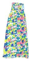 South Womens Size 8 Abstract Cotton Strapless Multi-Coloured Summer Maxi Dress (