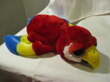 """CALTOY Plush Hand Puppet  PARROT 10"""" Long  Red/Blue/Yellow  2004"""